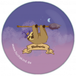 "Fuchskind ""Slotherin"" 25mm-Button"