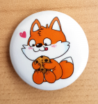 "Fuchskind ""Cookie-Fuchs"" 32mm-Button"