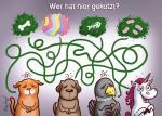 """Gekotzt"" Einhornkotze-Postkarte"