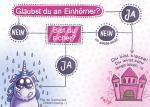 """Glaubst du…"" Einhornkotze-Postkarte"