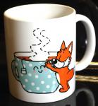 """""""Tea - A hug in a cup""""-Tasse von Fuchskind"""