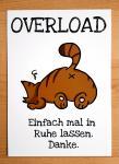 """Postkarte """"Overload-Katze"""" von Fuchskind"""