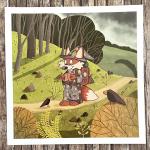 "Print ""Wanderfuchs"" - 21 x 21 cm"