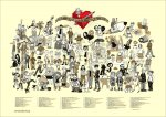 "A2-Webcomic-Plakat ""Liga der extraordinären Webcomic Künstler 2014"""