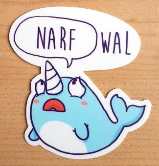 """Sticker """"Narfwal"""" von Fuchskind"""