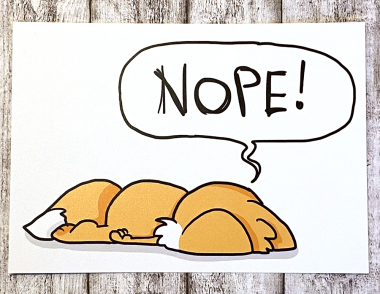 """Postkarte """"Nope-Fuchs"""" von Fuchskind"""