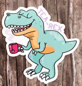 """Sticker """"Tea-Rex"""" von Fuchskind"""