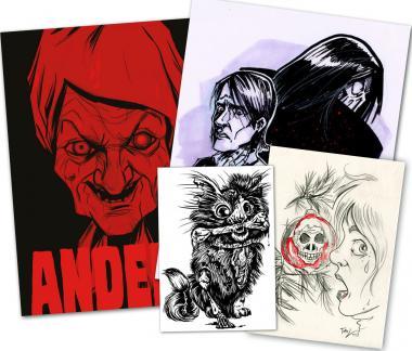 Anders-Special: Horrorbundle mit einer Originalzeichnung