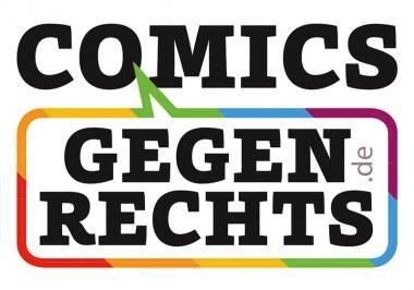 """10 Sticker """"Comics gegen rechts"""""""