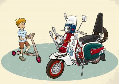"Fahrradmod - Getting Grand ""Beginnings"" A5 Digitaldruck"