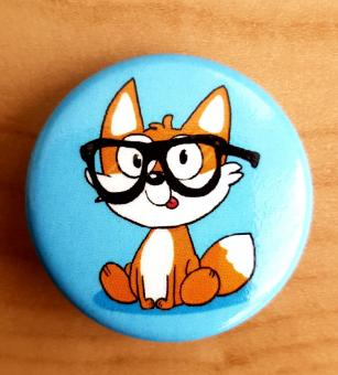 "Fuchskind ""Nerdfuchs"" 32mm-Button"