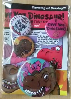 "KayDee - ""I Give You Dinosaur"" ButtonSet"