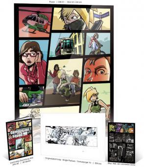 Demolitionsquad Sammelheft #3 Kombipack 'Verlustangst' #10 mit ORIGINALSEITE Single & Gratis-Poster A1