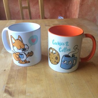 """""""Cookies & Coffee"""" – Kaffeetasse vom Fuchskind in 2 Varianten"""