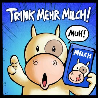 """""""Trink mehr Milch!""""-Magnet"""