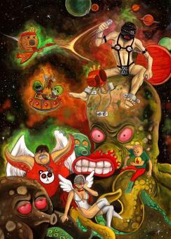 """Poster """"Weltallsadomaso"""" A3"""