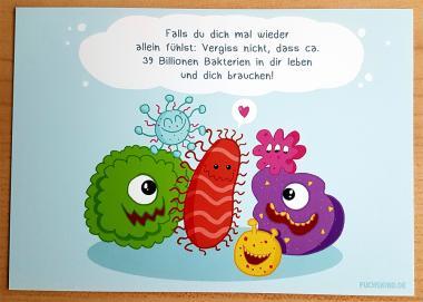 """Postkarte """"Bakterien"""" von Fuchskind"""