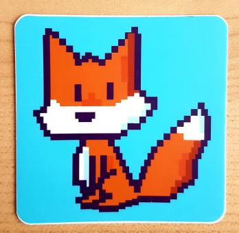 """Sticker """"Pixelfuchs"""" von Fuchskind"""