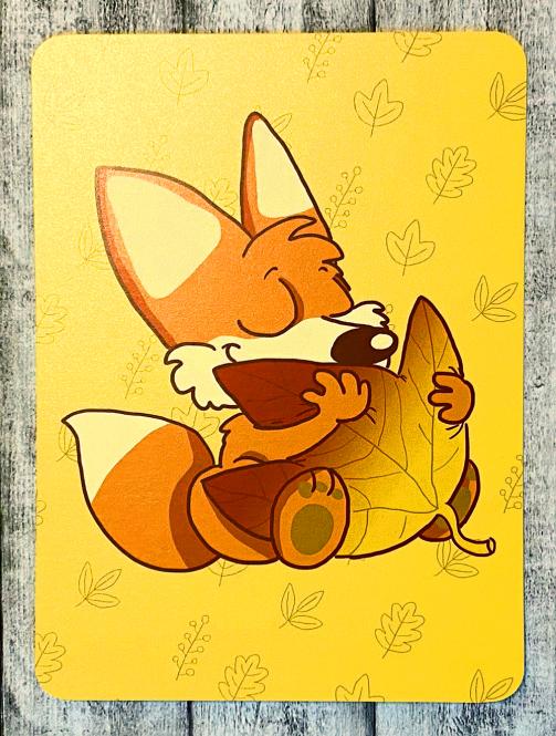 """Postkarte """"Herbstfuchs"""" von Fuchskind"""