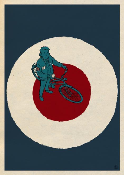 Fahrradmod - Fine Art Print DIN A2 zum 5jährigen Jubiläum des Buchs - Versand seit 18.11.