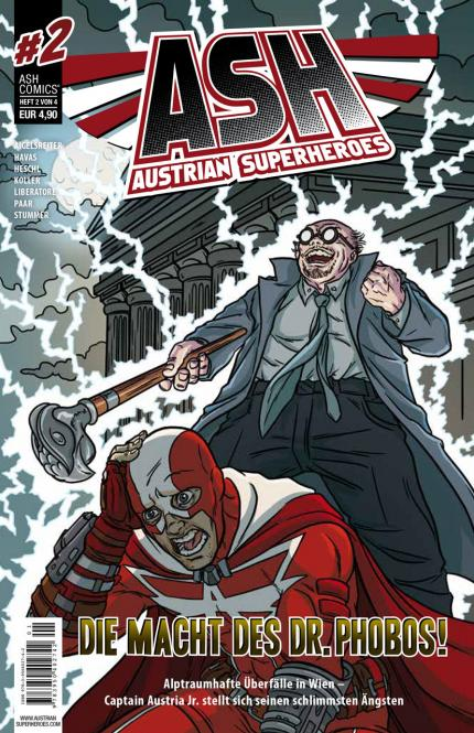ASH - Austrian SuperHeroes #2 - Die Macht des Dr. Phobos – ICOM Sonderpreis bemerkenswerte Publikation 2016