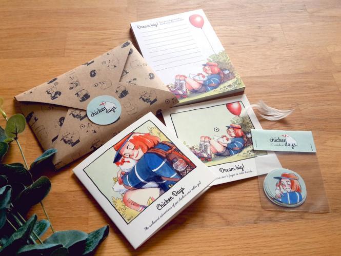 Chicken Days - Set im Briefumschlag von Hanna Wenzel