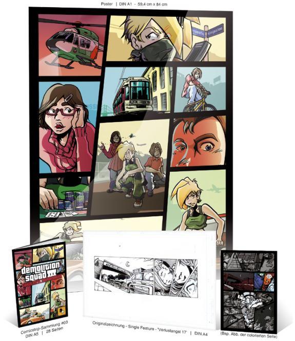 Demolitionsquad Sammelheft #3 Kombipack 'Verlustangst' #17 mit ORIGINALSEITE Single & Gratis-Poster A1