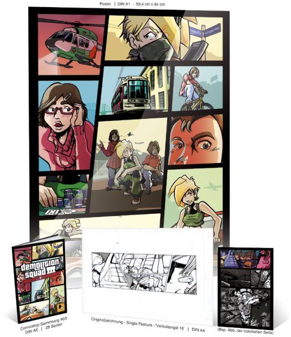Demolitionsquad Sammelheft #3 Kombipack 'Verlustangst' #16 mit ORIGINALSEITE Single & Gratis-Poster A1