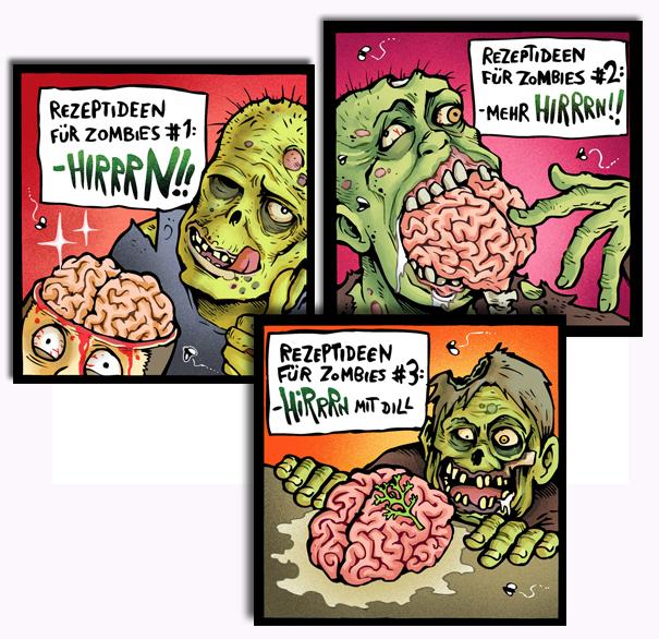 Defs Zombie Magnet-Set