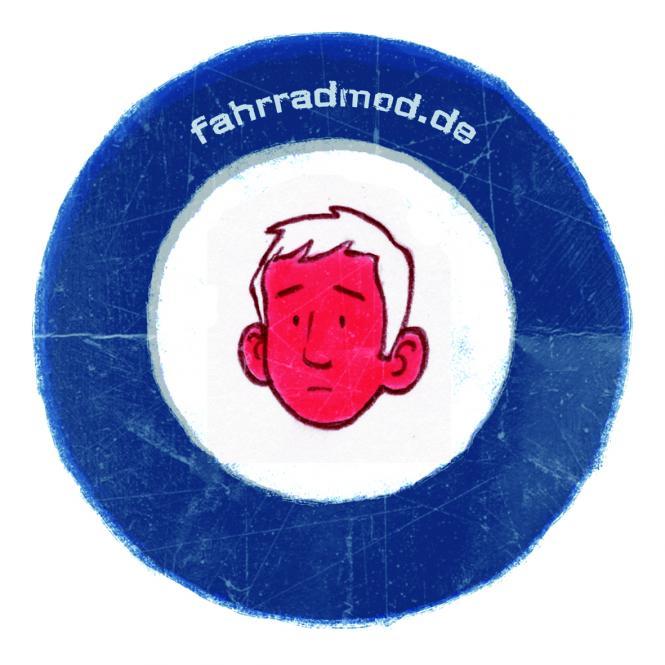 "Fahrradmod - Getting Grand ""Target""-Sticker"