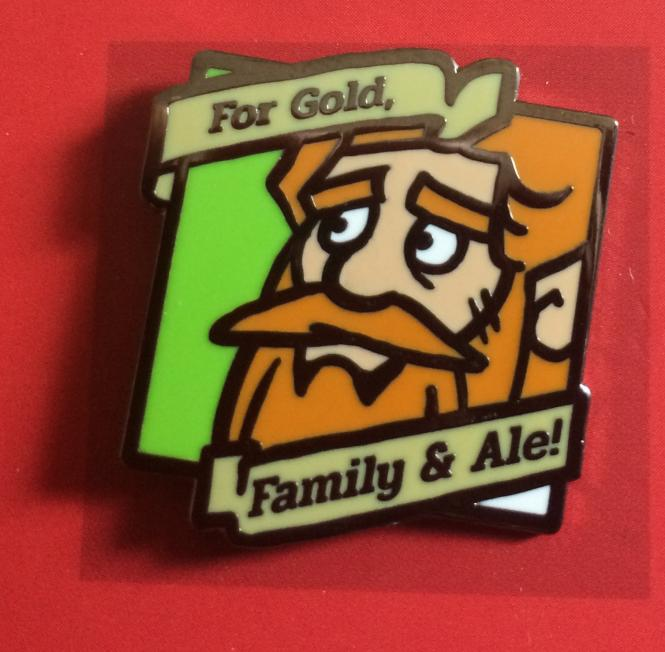 "Gert & Grendil Dwarven Pin I – ""For Gold, Family & Ale"""