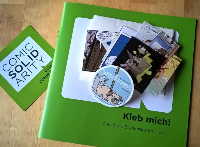 Kleb mich! - Das erste Indie Stickeralbum für Comicmessen der Comic Solidarity + 1 Tüte Sticker