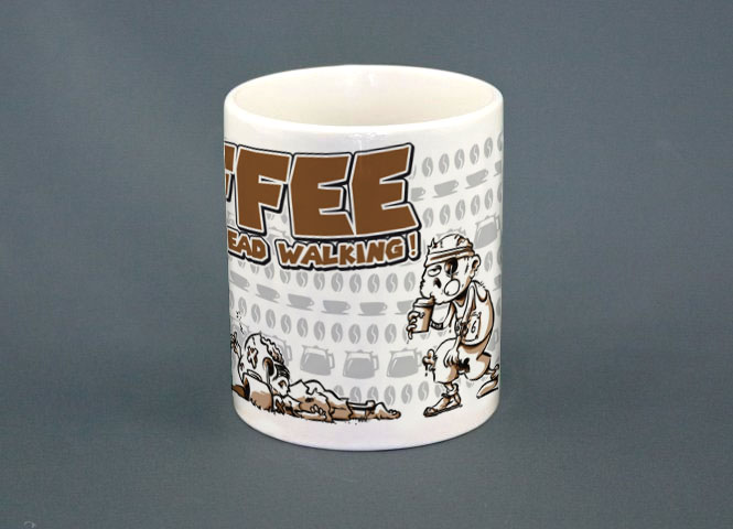 "Demolitionsquad Tasse ""Coffee Keeps the Dead Walking"""