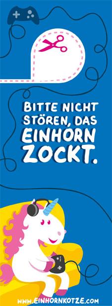 "Einhornkotze - Türhänger ""Zocken"""