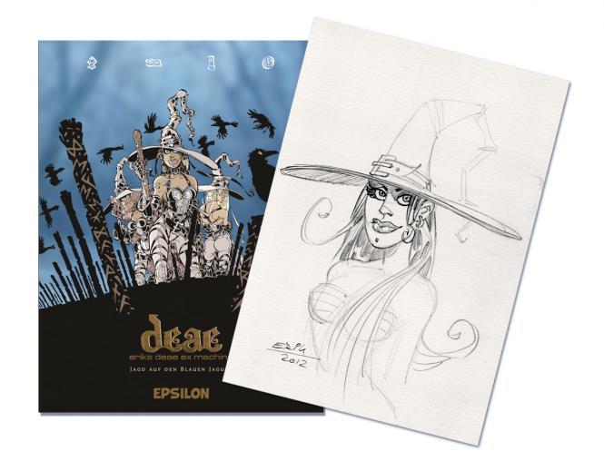 Deae - Eriks Deae ex machina Band 1 plus A4 Originalzeichnung für Kwimbi
