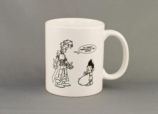 "Shakes & Fidget Tasse ""Zuviel Kaffee"""
