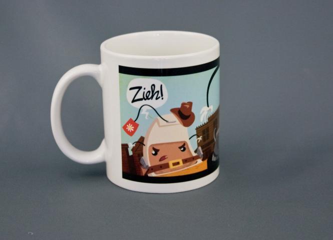 """Teetasse """"Zieh!"""" – Westernhelden-Tasse von Sarah Burrini"""