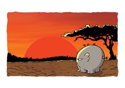 """Ponyhof Druck """"Ngumbe im Sonnenuntergang"""""""