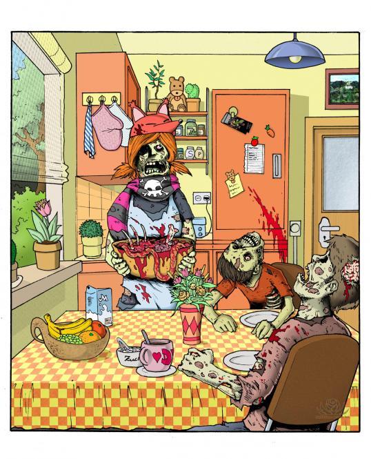 """Poster """"Gemütlichkeit of the Living Dead"""" A3"""