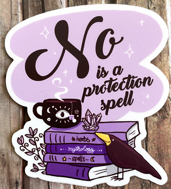 "Sticker ""No is a Protection Spell"" von Fuchskind"