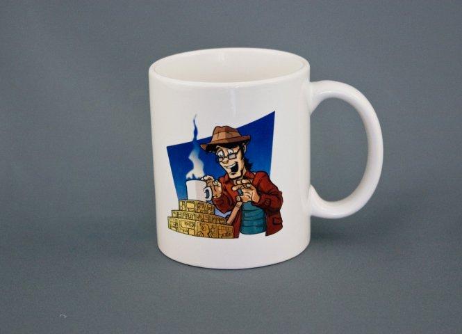 """Katzenfuttergeleespritzer """"Quest for Coffee"""" - Tasse"""