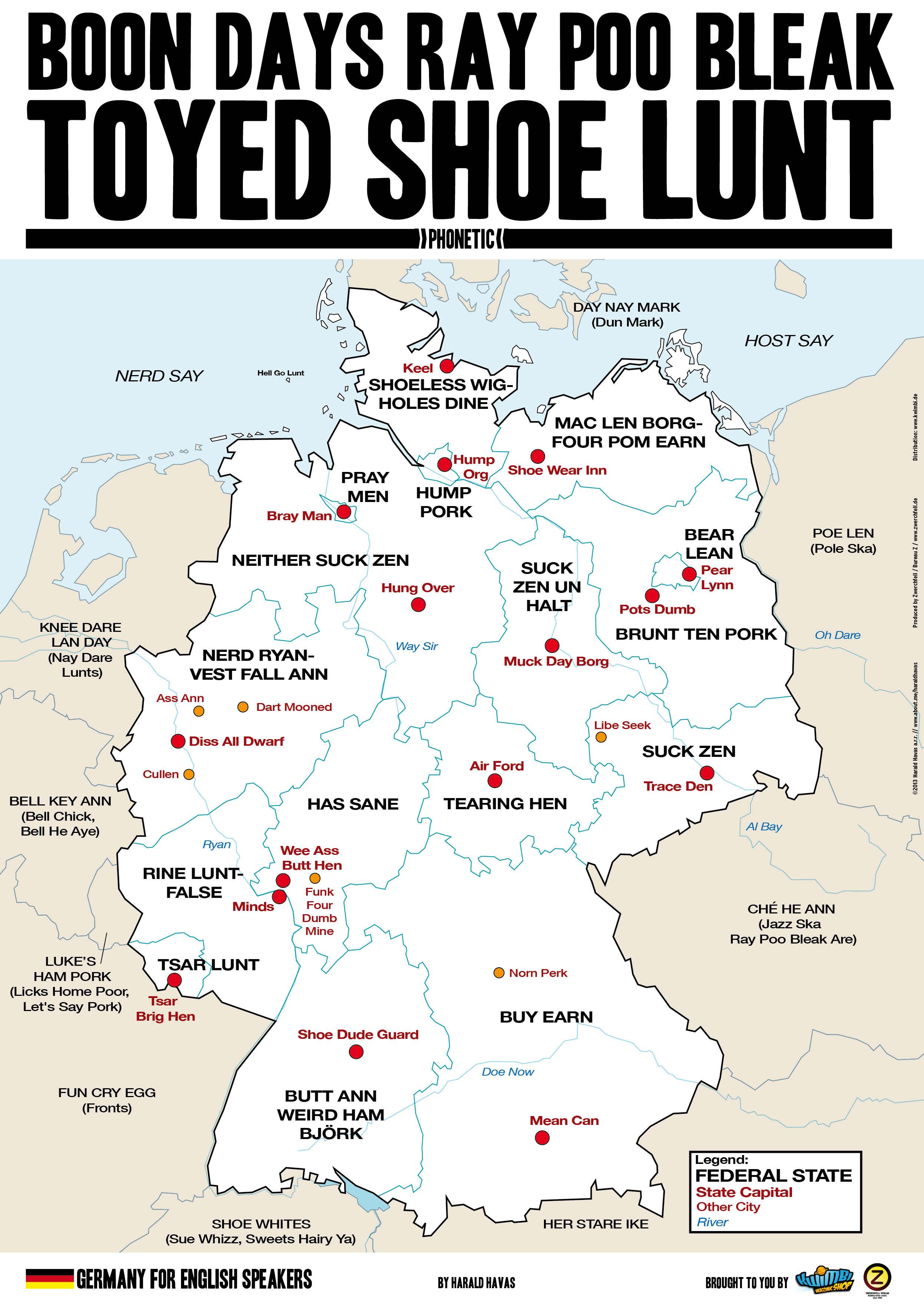 Kwimbi Toyed Shoe Lunt A2 Deutschlandkarte